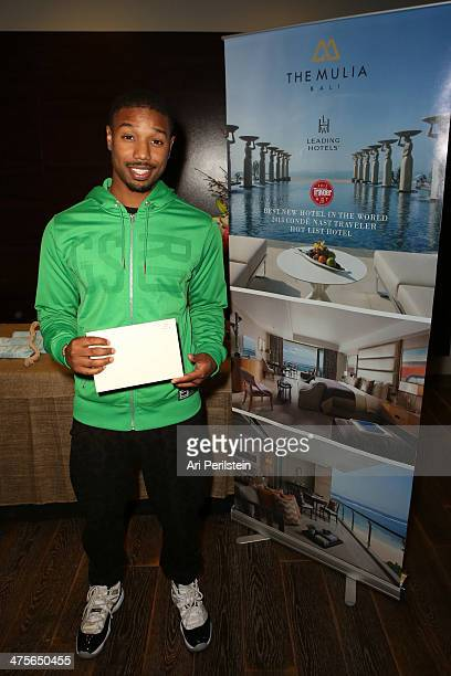 Actor Michael B Jordan attends Kari Feinstein's PreAcademy Awards Style Lounge at the Andaz West Hollywood on February 28 2014 in Los Angeles...