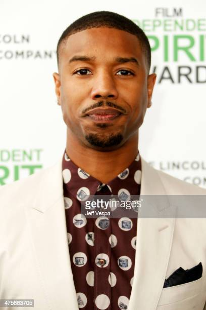 Actor Michael B Jordan attends the 2014 Film Independent Spirit Awards at Santa Monica Beach on March 1 2014 in Santa Monica California