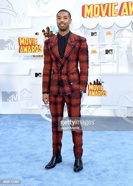 Actor Michael B Jordan attends The 2015 MTV Movie Awards at Nokia Theatre LA Live on April 12 2015 in Los Angeles California