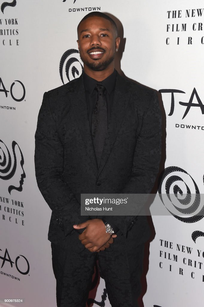 Actor Michael B. Jordan attends the 2017 New York Film Critics Awards at TAO Downtown on January 3, 2018 in New York City.