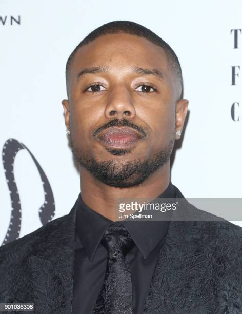 Actor Michael B Jordan attends the 2017 New York Film Critics Awards at TAO Downtown on January 3 2018 in New York City