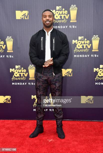 Actor Michael B Jordan attends the 2018 MTV Movie And TV Awards at Barker Hangar on June 16 2018 in Santa Monica California