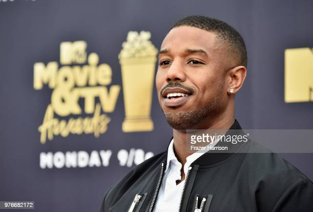 Actor Michael B Jordan attends the 2018 MTV Movie And TV Awards at Barker Hangar on June 16 2018 in Santa Monica California