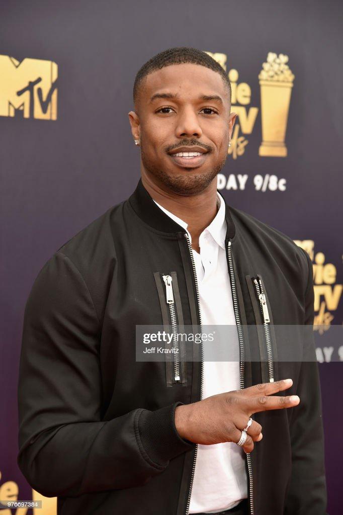 Actor Michael B. Jordan attends the 2018 MTV Movie And TV Awards at Barker Hangar on June 16, 2018 in Santa Monica, California.