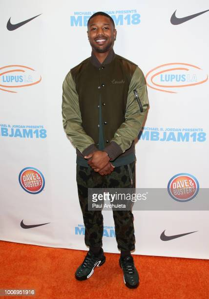 Actor Michael B Jordan attends the 2nd annual MBJAM18 presented by Michael B Jordan and Lupus LA at Dave Buster's on July 28 2018 in Los Angeles...