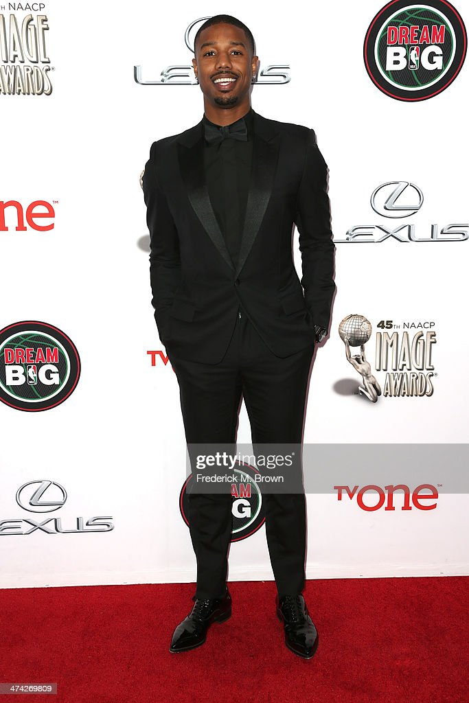 Actor Michael B. Jordan attends the 45th NAACP Image Awards presented by TV One at Pasadena Civic Auditorium on February 22, 2014 in Pasadena, California.