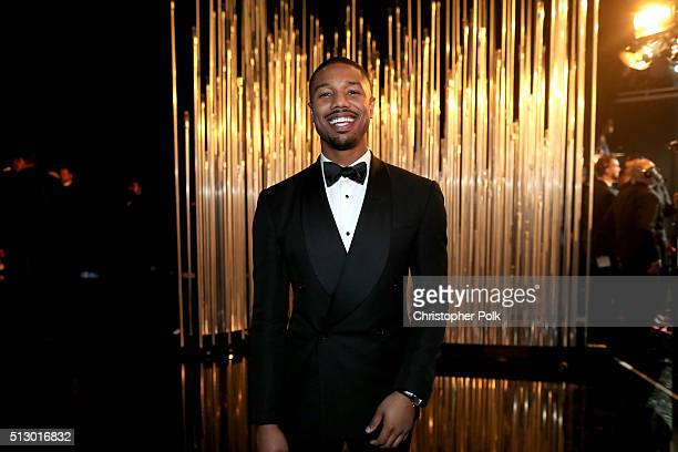 Actor Michael B Jordan attends the 88th Annual Academy Awards at Dolby Theatre on February 28 2016 in Hollywood California