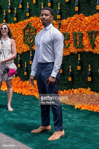 Actor Michael B Jordan attends the 9th Annual Veuve Clicquot Polo Classic at Liberty State Park on June 4 2016 in Jersey City New Jersey