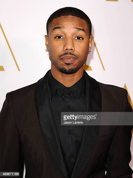 Actor Michael B Jordan attends the Academy of Motion Picture Arts and Sciences' Scientific and Technical Awards ceremony at Beverly Hills Hotel on...