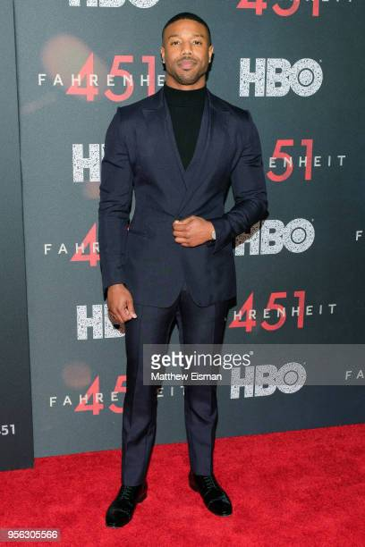 Actor Michael B Jordan attends the Fahrenheit 451 New York Premiere at NYU Skirball Center on May 8 2018 in New York City
