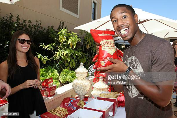 Actor Michael B Jordan attends the Kari Feinstein Primetime Emmy Awards Style Lounge Day 1 held at Montage Beverly Hills hotel on August 26 2010 in...