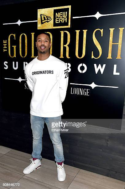 Actor Michael B Jordan attends the New Era Style Lounge at The Battery on February 4 2016 in San Francisco California