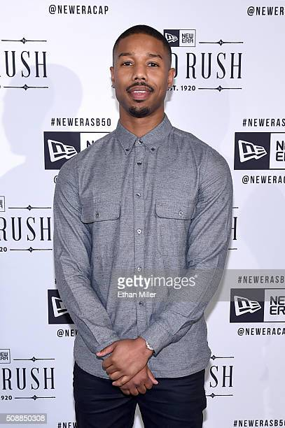 Actor Michael B Jordan attends the New Era Super Bowl party at The Battery on February 6 2016 in San Francisco California
