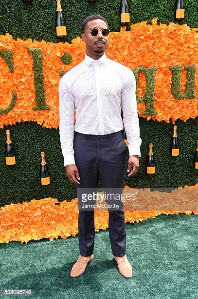 Actor Michael B Jordan attends the Ninth Annual Veuve Clicquot Polo Classic at Liberty State Park on June 4 2016 in Jersey City New Jersey