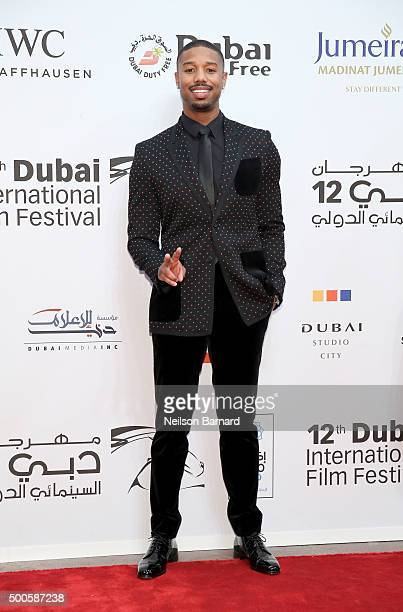 Actor Michael B Jordan attends the Opening Night Gala of 'Room' during day one of the 12th annual Dubai International Film Festival held at the...
