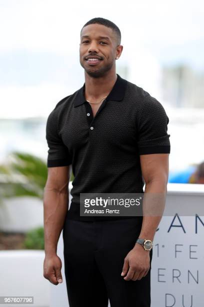 "Actor Michael B. Jordan attends the photocall for ""Farenheit 451"" during the 71st annual Cannes Film Festival at Palais des Festivals on May 12, 2018..."