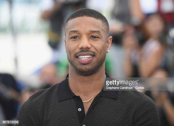 Actor Michael B Jordan attends the photocall for Farenheit 451 during the 71st annual Cannes Film Festival at Palais des Festivals on May 12 2018 in...