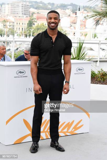 Actor Michael B Jordan attends the photocall for the Farenheit 451 during the 71st annual Cannes Film Festival at Palais des Festivals on May 12 2018...
