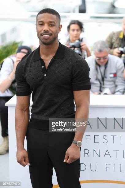 US actor Michael B Jordan attends the photocall for the Farenheit 451 during the 71st annual Cannes Film Festival at Palais des Festivals on May 12...