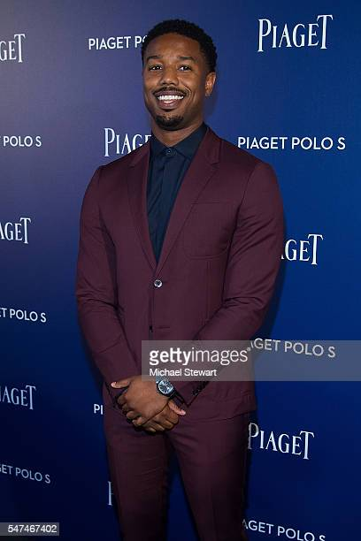 Actor Michael B Jordan attends the Piaget new timepiece launch at the Duggal Greenhouse on July 14 2016 in New York City