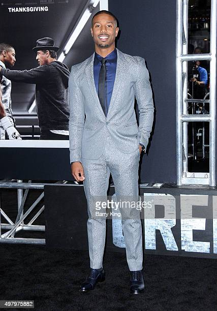 Actor Michael B Jordan attends the Premiere Of Warner Bros Pictures' 'Creed' at the Regency Village Theatre on November 19 2015 in Westwood California