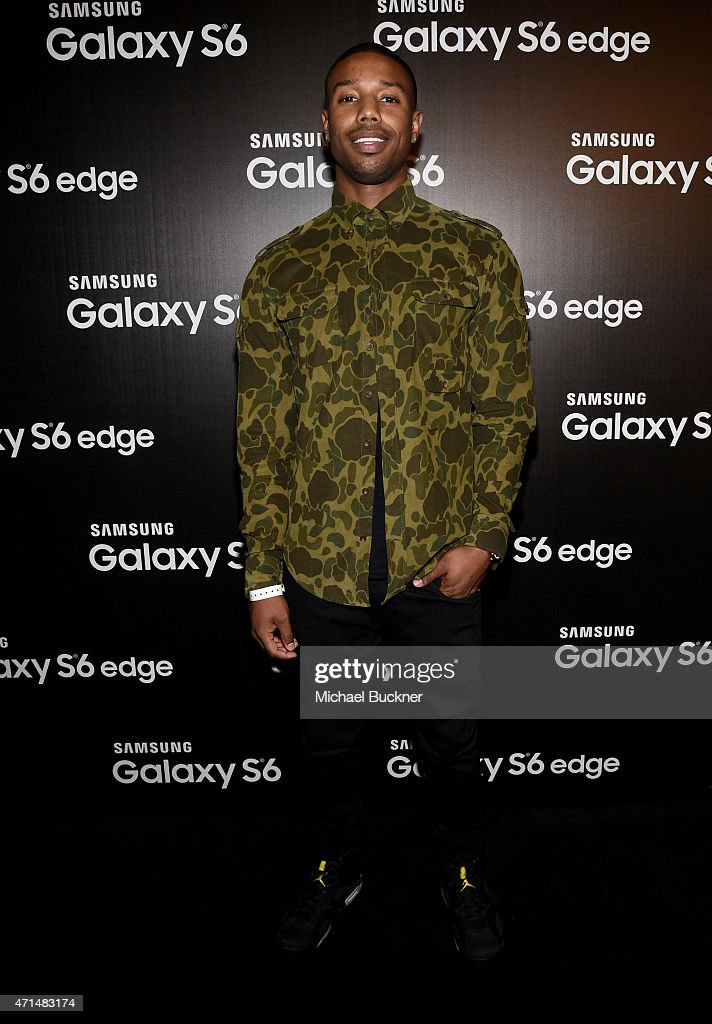 Actor Michael B. Jordan attends the Samsung Studio LA Launch Event across from the Grove on April 28, 2015 in Los Angeles, California.