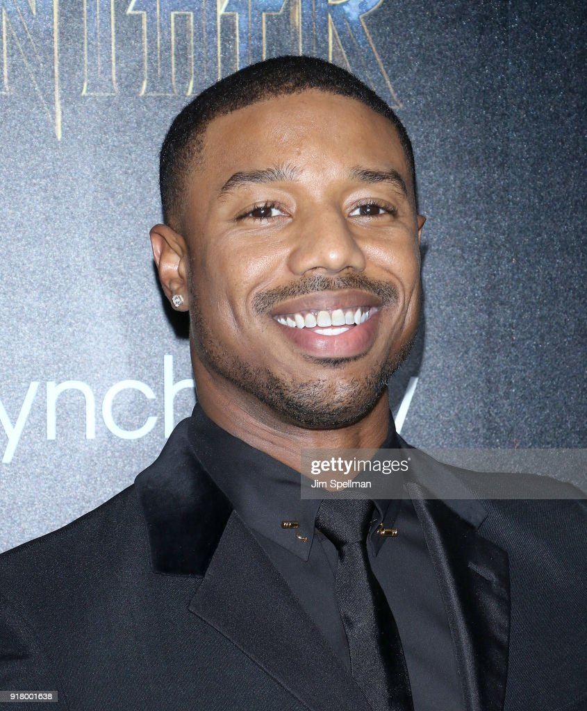 Actor Michael B. Jordan attends the screening of Marvel Studios' 'Black Panther' hosted by The Cinema Society with Ravage Wines and Synchrony at Museum of Modern Art on February 13, 2018 in New York City.