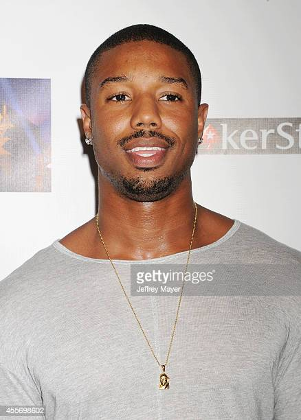 Actor Michael B Jordan attends the Stars Get Lucky For Lupus 6th Annual Poker Tournament at Avalon on September 18 2014 in Hollywood California