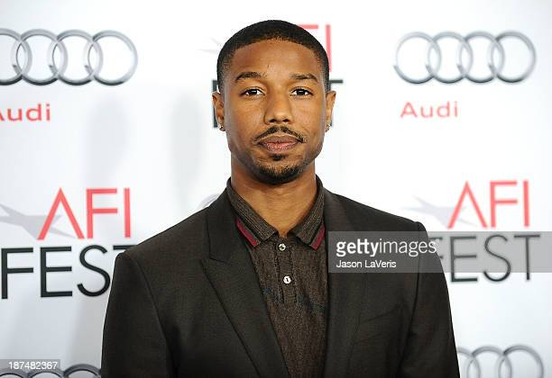 Actor Michael B Jordan attends the Young Hollywood Roundtable at the 2013 AFI Fest at TCL Chinese Theatre on November 8 2013 in Hollywood California