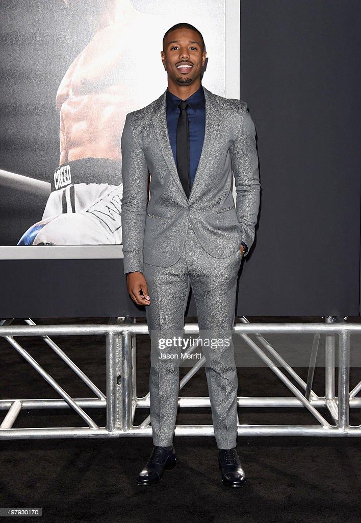 Actor Michael B. Jordan attends Warner Bros. Pictures' 'Creed' Premiere at Regency Village Theatre on November 19, 2015 in Westwood, California.