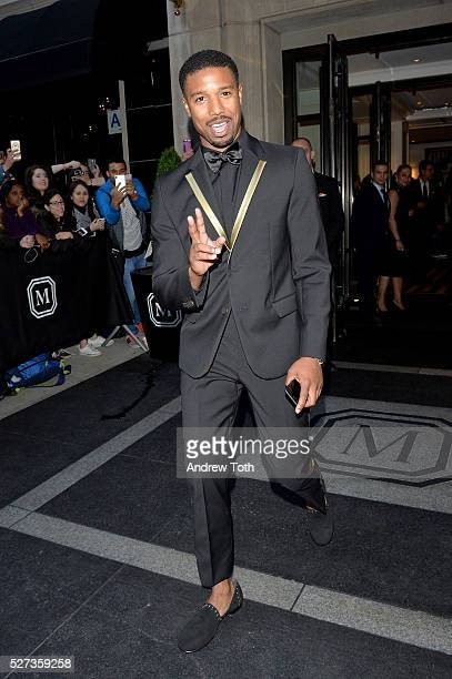 Actor Michael B Jordan leaves from The Mark Hotel for the 2016 Manus x Machina Fashion in an Age of Technology Met Gala on May 2 2016 in New York City
