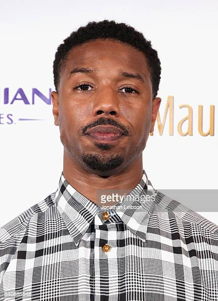 Actor Michael B Jordan recipient of the 2016 Maui Film Festival Rainmaker Award in Wailea attends Maui Film Festival's Soiree at Spago Honoree...