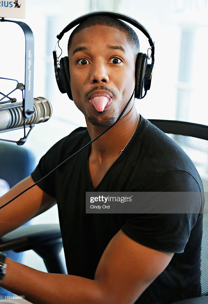 Actor Michael B. Jordan visits 'The Morning Jolt With Larry Flick' at the SiriusXM Studios on July 9, 2013 in New York City.