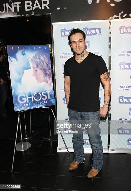 Actor Michael Balderrama attends the Ghost The Musical postperformance reception at the Paramount Hotel on March 28 2012 in New York City