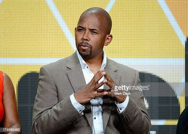 Actor Michael Boatman speaks onstage during the Viacom TCA Summer 2013 presentaton at The Beverly Hilton Hotel on July 26 2013 in Beverly Hills...