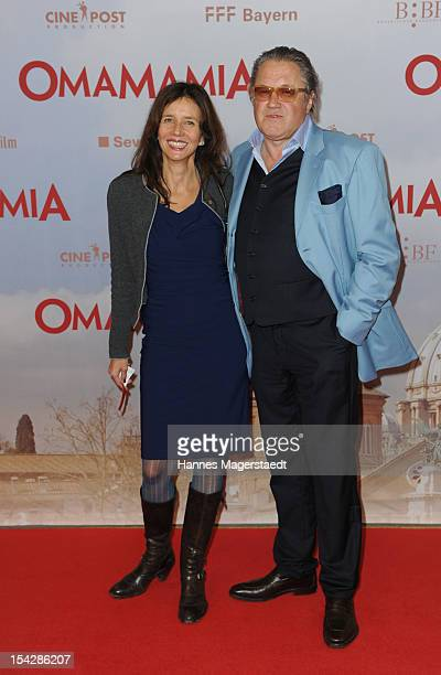 Actor Michael Brandner and his wife Karin Brandner attend the 'Omamamia' Germany Premiere at the Mathaeser Filmpalast on October 17 2012 in Munich...