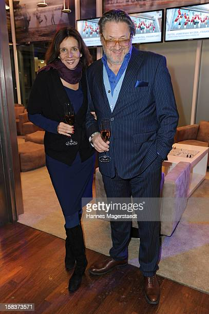 Actor Michael Brandner and his wife Karin Brandner attend the BMW Adventskalender opening with Anja Kruse at the BMW Pavillon on December 14 2012 in...