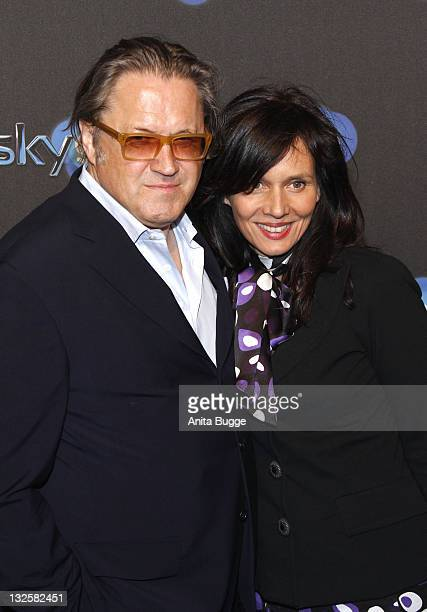 Actor Michael Brandner and his wife Karin Brandner attend the 'Sky Presents TV Revolution' event at Soho House on April 7 2011 in Berlin Germany