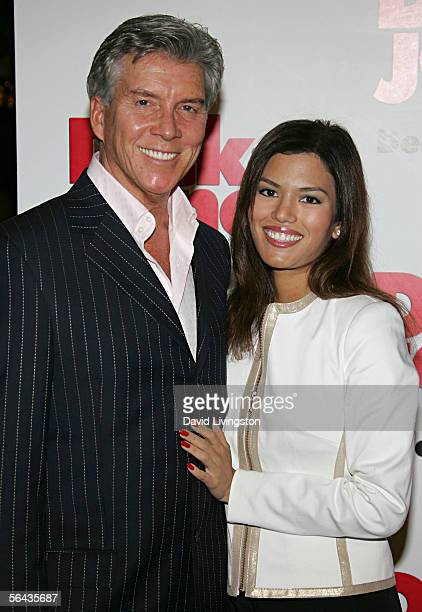Actor Michael Buffer and Christine Prado attend the Los Angeles premiere of Sony Pictures Fun With Dick And Jane at the Mann Village Theatre on...