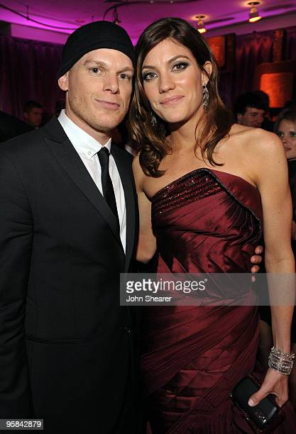 Actor Michael C Hall and actress Jennifer Carpenter attend the InStyle and Warner Bros 67th Annual Golden Globes postparty held at the Oasis...