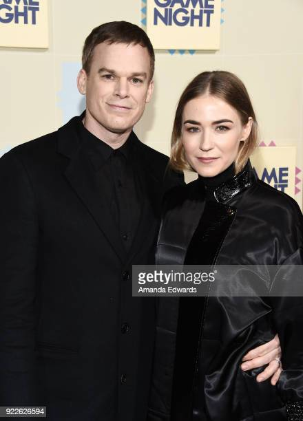 Actor Michael C Hall and Morgan Macgregor arrive at New Line Cinema and Warner Bros Pictures' 'Game Night' Premiere at the TCL Chinese Theatre on...
