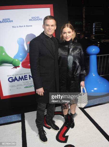 Actor Michael C Hall and Morgan Macgregor arrive for the Premiere Of New Line Cinema And Warner Bros Pictures' 'Game Night' held at TCL Chinese...