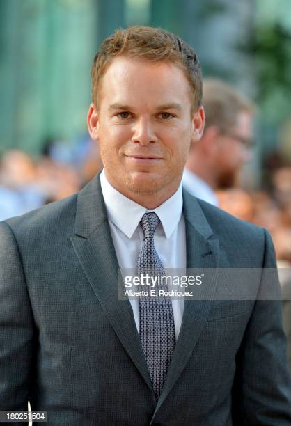 Actor Michael C Hall arrives at Kill Your Darlings Premiere during the 2013 Toronto International Film Festival at Roy Thomson Hall on September 10...