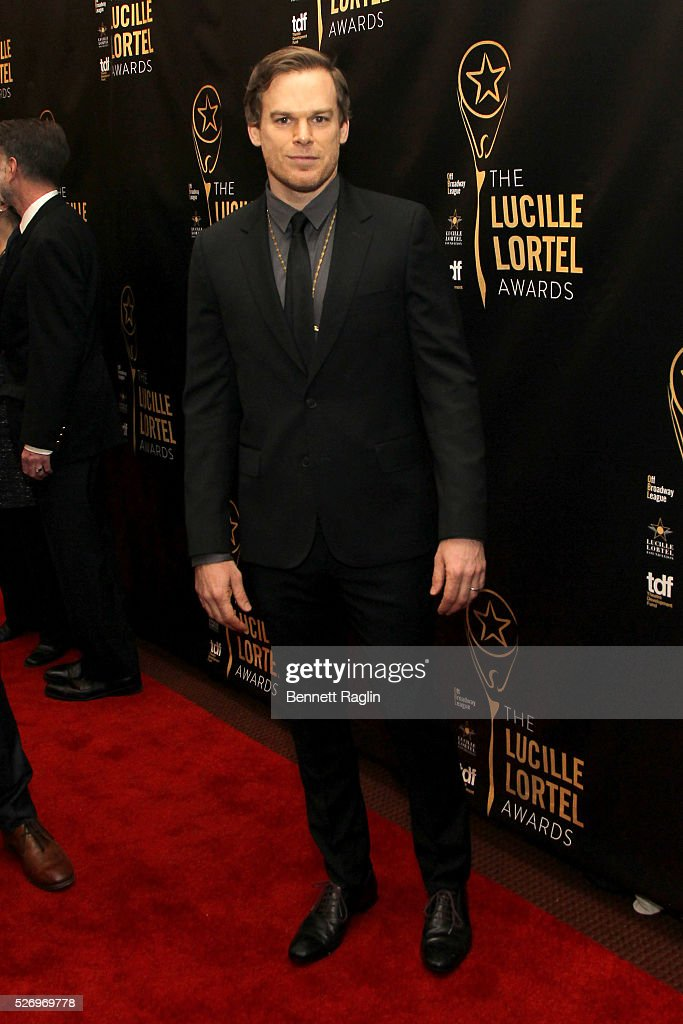 Actor Michael C. Hall arrives at the 31st Annual Lucille Lortel Awards at NYU Skirball Center on May 1, 2016 in New York City.