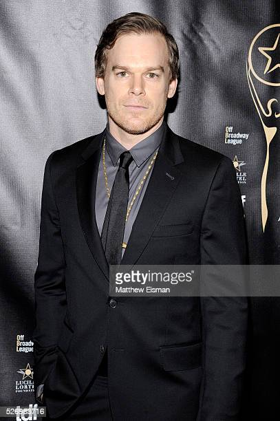 Actor Michael C Hall arrives at the 31st Annual Lucille Lortel Awards at NYU Skirball Center on May 1 2016 in New York City
