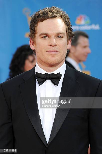 Actor Michael C Hall arrives at the 62nd Annual Primetime Emmy Awards held at the Nokia Theatre LA Live on August 29 2010 in Los Angeles California
