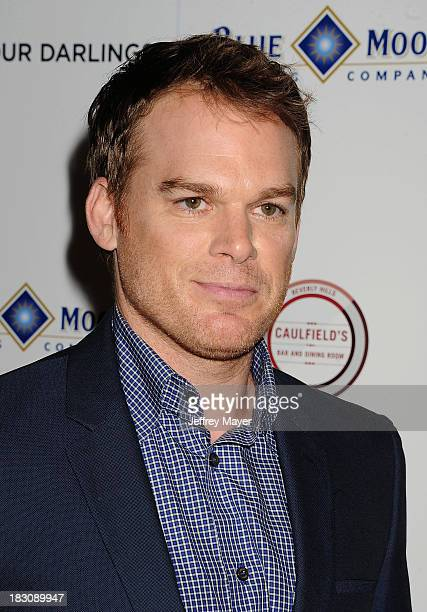 Actor Michael C Hall arrives at the Los Angeles premiere of 'Kill Your Darlings' at the Writers Guild Theater on October 3 2013 in Beverly Hills...
