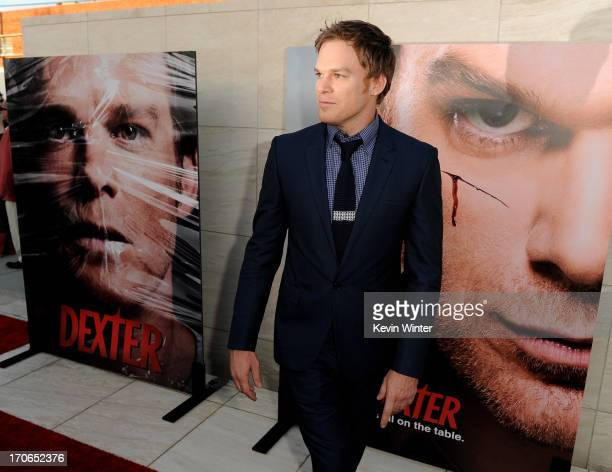 Actor Michael C Hall arrives at the premiere screening of Showtime's Dexter Season 8 at Milk Studios on June 15 2013 in Los Angeles California