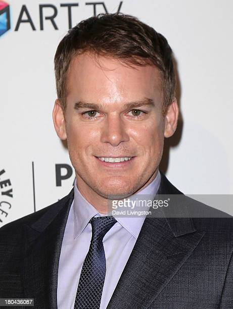 Actor Michael C Hall attends PaleyFestPreviews Fall TV Fall Farewell 'Dexter' at The Paley Center for Media on September 12 2013 in Beverly Hills...