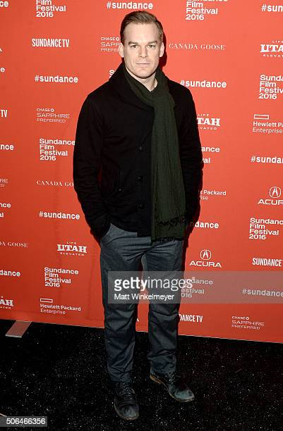 Actor Michael C Hall attends the 'Christine' Premiere during 2016 Sundance Film Festival at Library Center Theater on January 23 2016 in Park City...